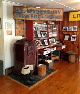 Kolb's store display in the Galesville museum