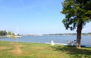 View from Hartge Yacht Harbor, the oldest marina in Maryland