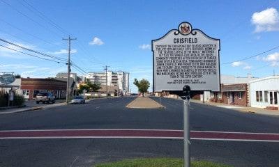 Main Street in Crisfield, Maryland