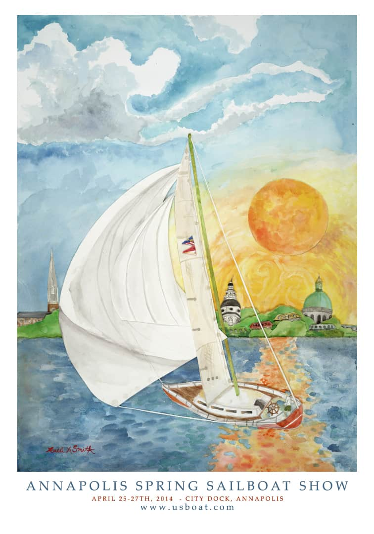 Kaeli Smith 2014 Spring Annapolis Boat Show poster winner