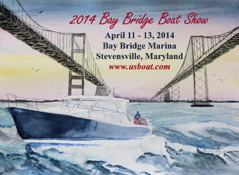 2014 Bay Bridge Boat Show poster