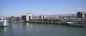 Crab holding pen on Tangier Island