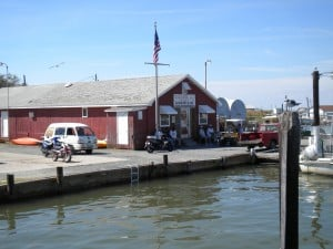 Tangier Island fueling station
