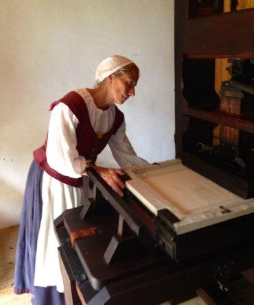 Printer at Historic St. Mary's City