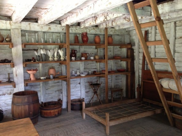 Inside a Freeman House in Historic St. Mary's City