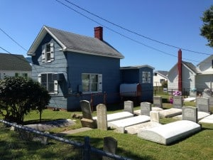Tangier Island houses