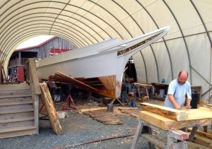 Boat restoration at Chesapeake Bay Maritime Museum