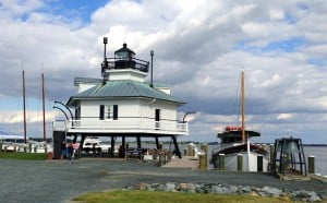 Lighthouse at Chesapeake Bay Maritime Museum in St. Michaels