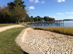 Oxford, Maryland, city park waterfront