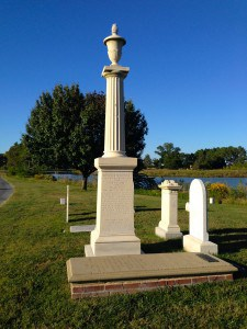 Lt. Col. Tench Tilghman's burial place in Oxford, Maryland