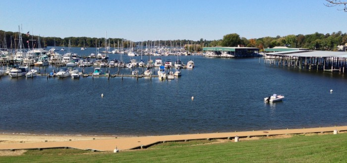 Georgetown marinas in the Sassafras River