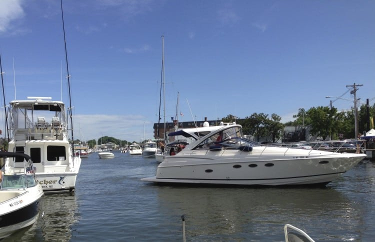 Power Boats in Annapolis' Ego Alley