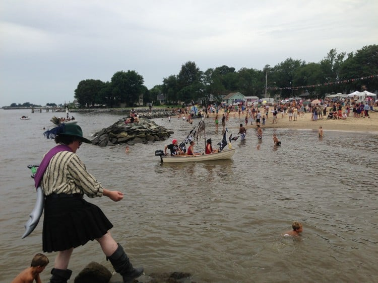 Rock Hall's beach being invaded during Pirates' weekend