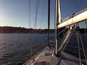 Wind Orchid docked near Deltaville, Virginia
