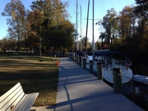Wind Orchid docked at the Dismal Swamp