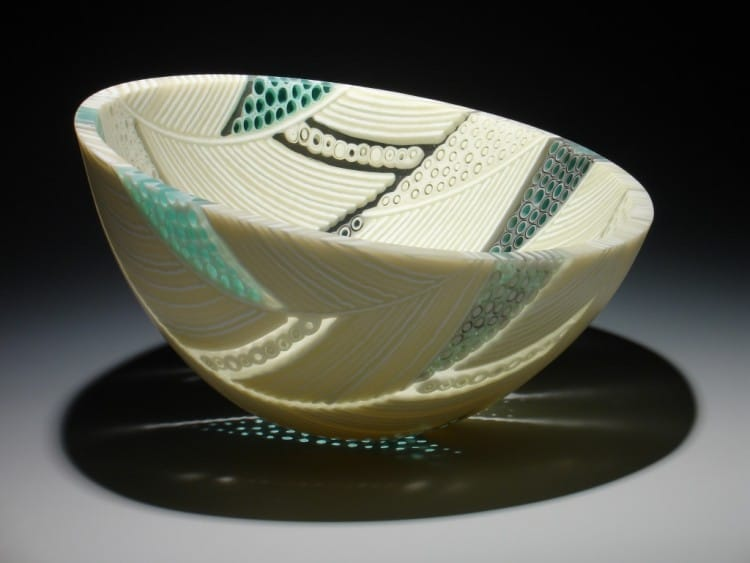 Arrow Series bowl from Hegland Glass