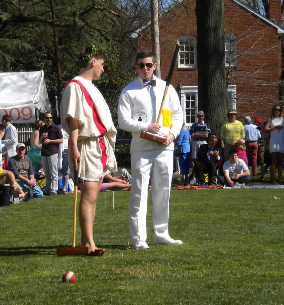 Imperial Wickets Sam and Ryan at 2014 Annapolis Cup croquet match