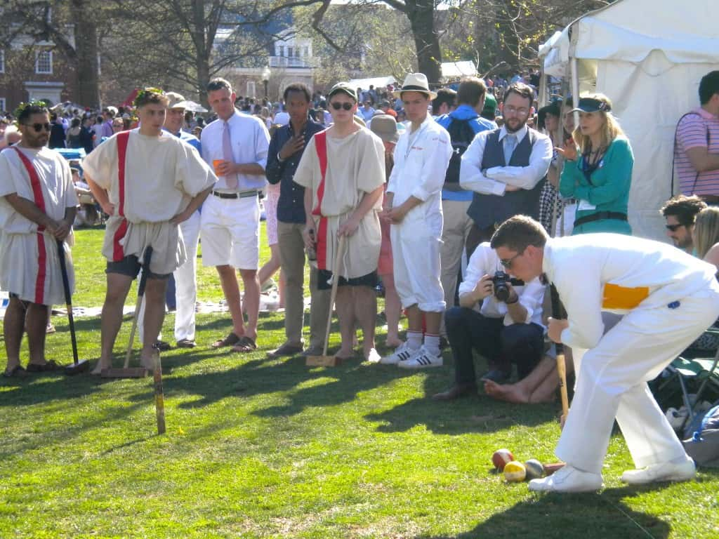 Ryan lines up shot at 2014 Annapolis Cup croquet match