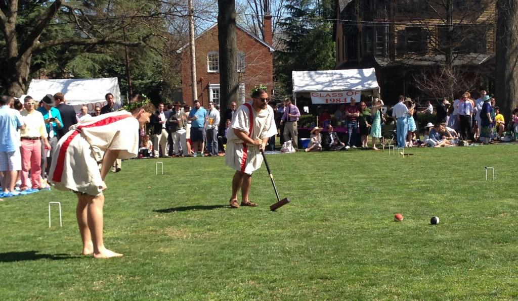 Hunter takes a shot at the 2014 Annapolis Cup croquet match