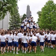 U.S. Naval Academy Commissioning Week Herndon Monument Climb