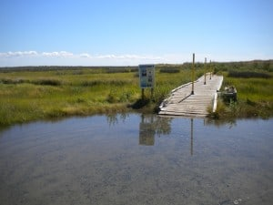 Tangier Beach entrance on Tangier Island
