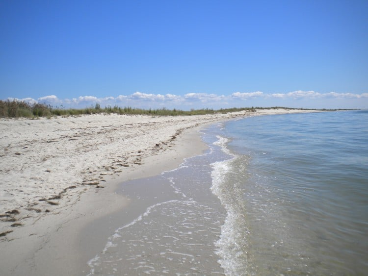 Tangier Beach on Tangier Island