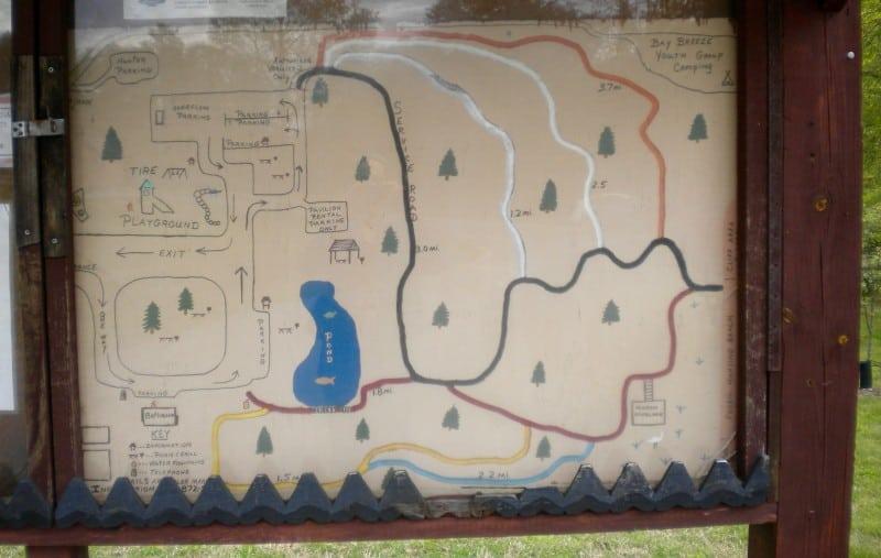 Calvert Cliffs State Park trail map