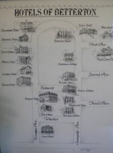 Betterton Heritage Museum map of hotels