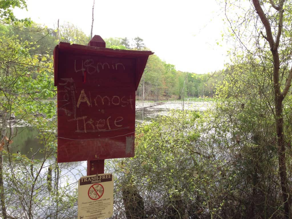 Sign by Calvert Cliffs State Park marsh