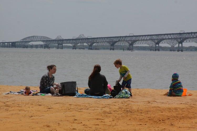 Sandy Point Beach near Annapolis, MD