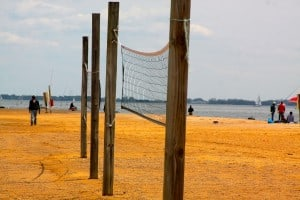 Sandy Point State Park beach volleyball nets