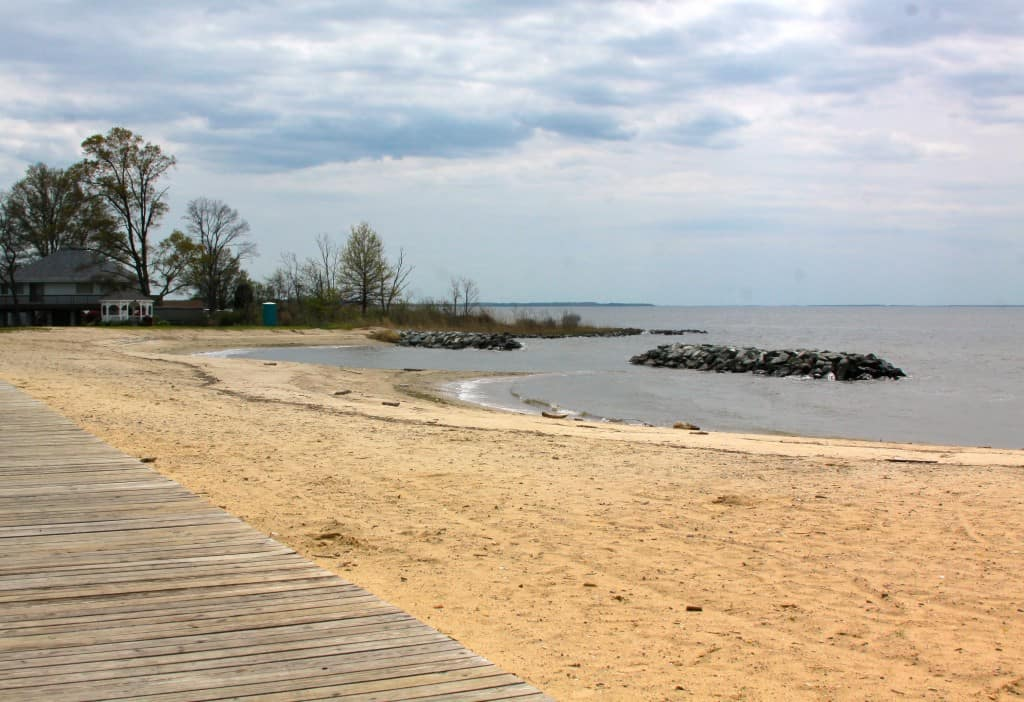Rock Hall, MD, town swimming beach