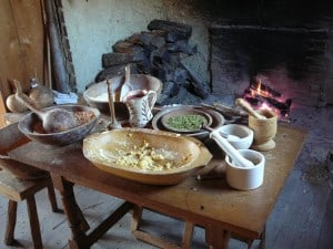 Historic London Town hearth cooking demonstration