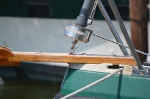 Split drum pin on Sea of Cay sailboat