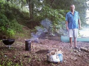 Blain Hansford river cooking