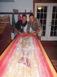 Shuffleboard at BillyVille in Virginia
