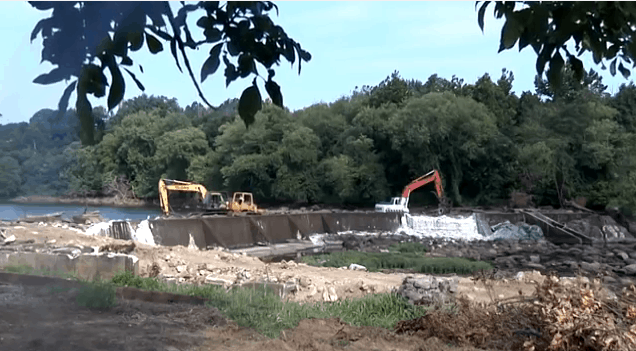 Virginia removes Harvell Dam in Petersburg