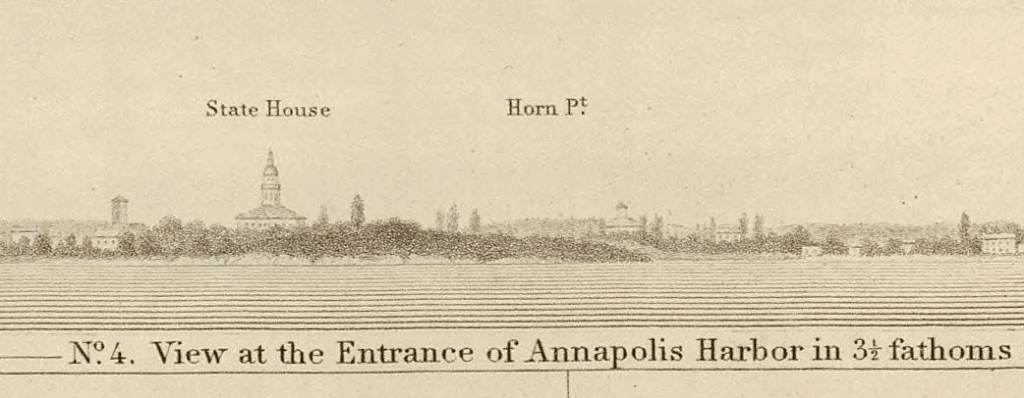 Drawing of Annapolis as seen from water
