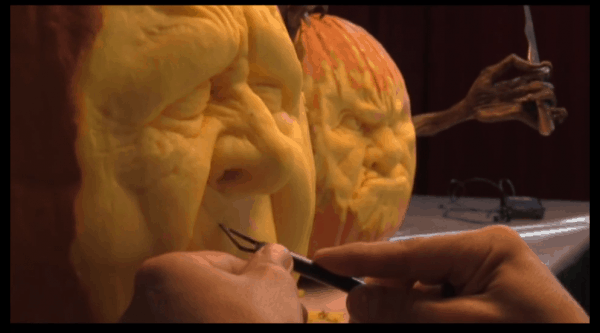 Pumpkin carving at Maryland state fair