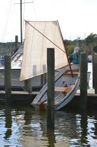 Sailing a pram