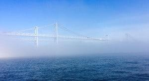 Foggy Chesapeake Bay Bridge