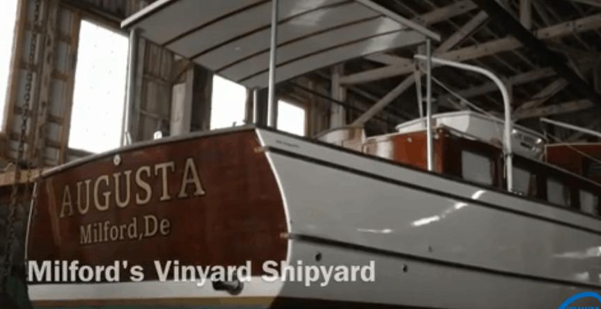 Vinyard wood boat in Milton, Delaware