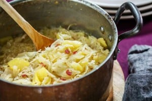 Sauerkraut and Apples (photo courtesy nytimes.com)