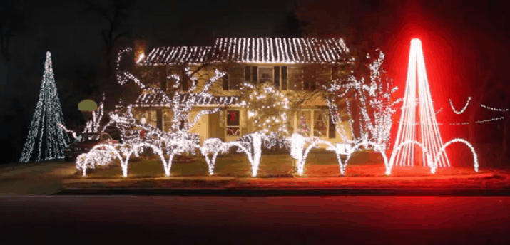 Phil Hoesch Christmas light display