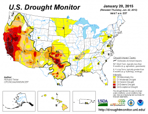 U.S. Drought May for January 20