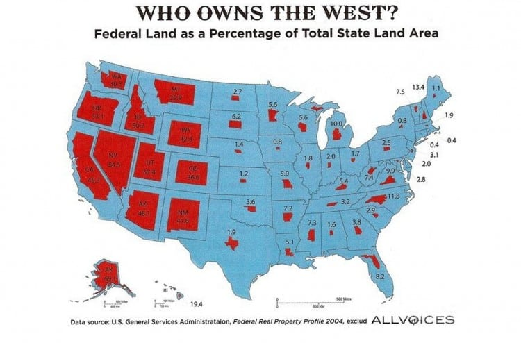 Federal ownership of state land