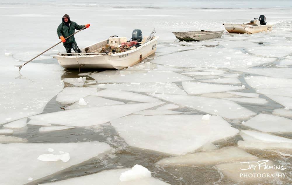 frozen Chesapeake Bay