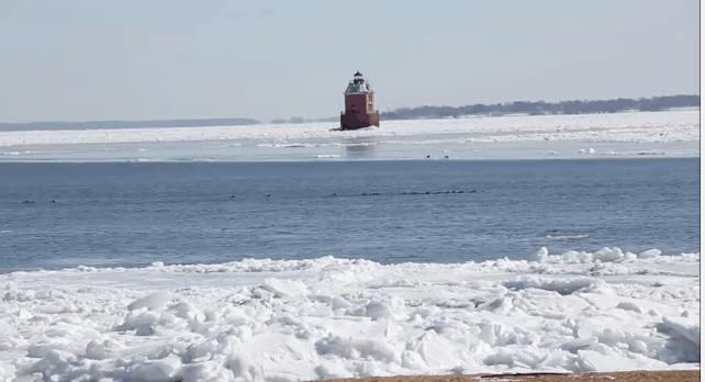 Frozen Chesapeake Bay 2015