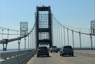 Chesapeake Bay Bridge with cars