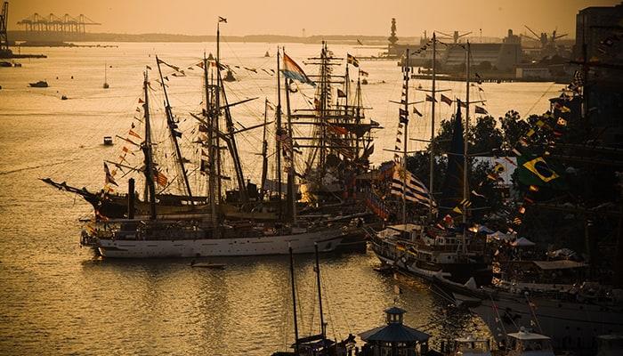Norfolk harbor festival tall ships